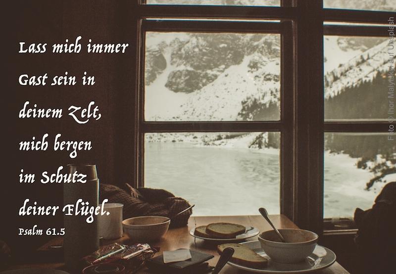 Brotzeit vor Fenster
