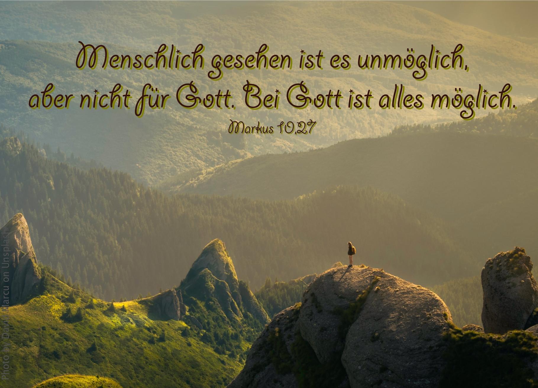 """alt=""""einsamer_Mensch_steht_auf_Fels_vor_bewaldeten_Bergen_erwartet_bibelhoerbuch_Jesus_segnet_die_Kinder"""""""
