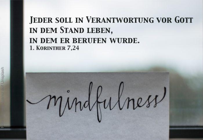 Schriftzug Mindfulness