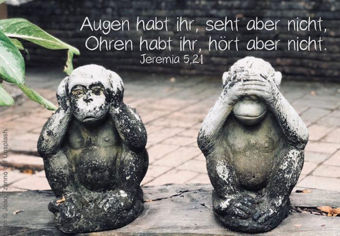 Affen, die Augen und Ohren zuhalten