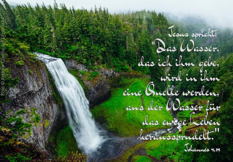 Wasserfall inmitten grüner Landschaft