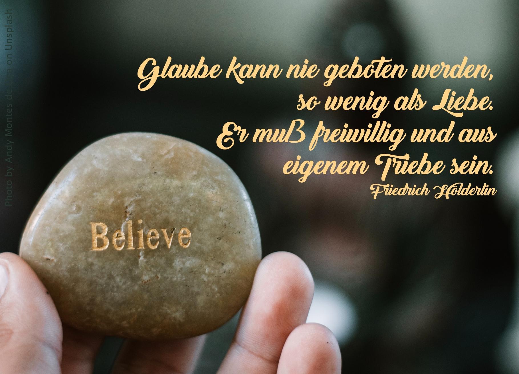 """Stein mit Gravur """"Believe"""""""